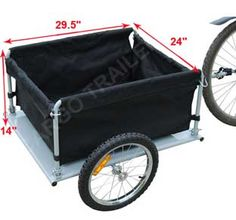 Bike Cargo Trailer - Yellow