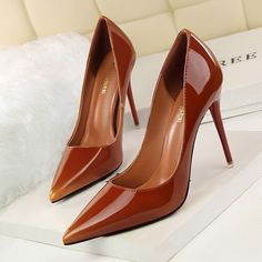 Fashion Slim High Heels Pointed Toe Pu Pumps For Women Sexy Club Party Ol Shoes