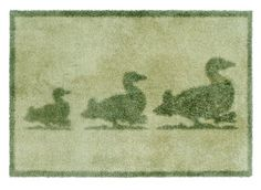 """Dirt Trapper Gripper Washable Design Mat approx 29"""" x 47"""" - Ducks Green by Cotswold Mat Co Ltd. $114.95. Machine washable at only 40°C and tumble dryable.. Approximate thickness 7mm. Dimpled gripper backing to grip hard floors and give additional grip on carpets. 100% cotton pile to absorb 95% on wet and mud. 5 year guarantee. Made in the UK.. Ideal for doorways, kitchens, bathrooms, boats and especially pets. Made in the UK using a cotton rich pile which absorbs 95% of al..."""