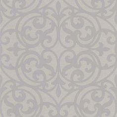 56 sq. ft. Sonata Grey Ironwork Wallpaper-DL30629 at The Home Depot