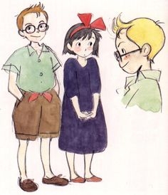Living Lines Library: 魔女の宅急便 / Kiki's Delivery Service (1989) - Character Design