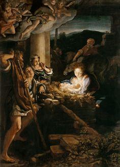 CORREGGIO Antonio Allegri da Correggio - Parma (1489-1534) ~ the Holy Night