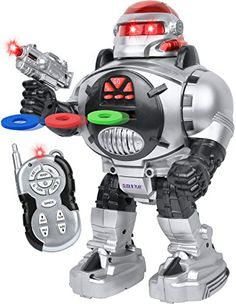 Click N' Play Remote Control Robot for Kids, Fires Discs,...