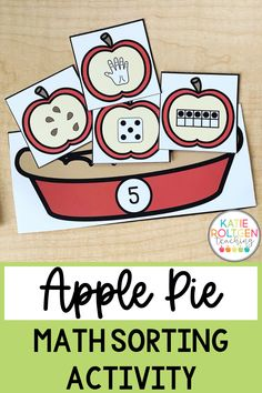 This low-prep, interactive number representation sort is perfect for fall! Your elementary students will love practicing foundational math skills by making yummy apple pies! Each apple pie practices number recognition and different visual representations of each number 1-10. This apple pie math sorting activity is perfect for math centers, morning tubs, independent work, small groups, or whole group!