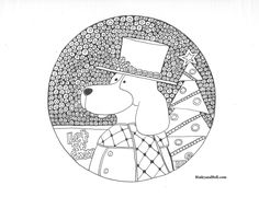 Coloring Sheets, Coloring Pages, Giving Tuesday, Activity Sheets, Binky, Cartoon Dog, Let It Snow, Dog Art, Symbols