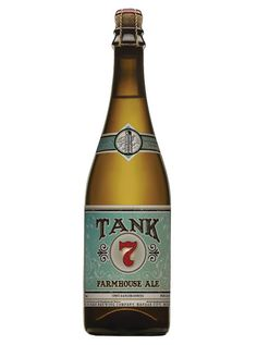 Boulevard Beers - Tank 7 Farmhouse Ale - badge style: shape, type and illustration