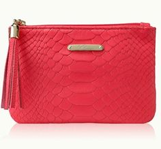 red python embossed pouch