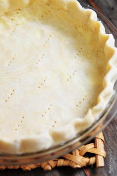 The Perfect Pie Crust  Serves: 1 9-inch pie crust   ■1½ cups all-purpose flour   ■½ teaspoon salt   ■¼ cup vegetable shortening   ■¼ cup butter   ■4-5 tablespoons ice water