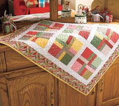 A quilting kit - could be a wall hanging for a bedroom?