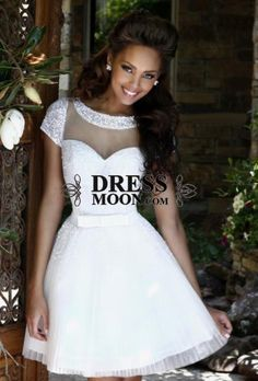 I like this - Short Sleeves Scoop Sequins and Tulle Homecoming Dress. Do you think I should buy it?