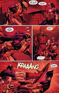 Cap vs Wolverine (Avengers vs Xmen#3).