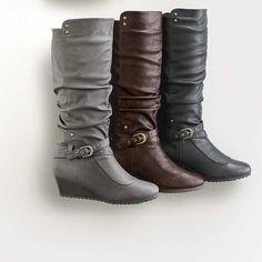 Henri Pierre® Women's aquaskin™ Waterproof Winter Cassie Wedge Boots - Sears | Sears Canada