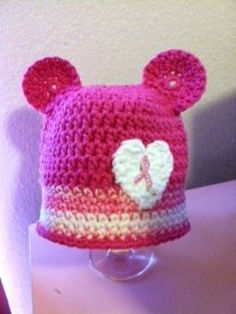 Breast Cancer Awareness Bear Hat