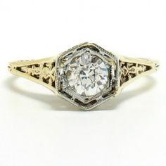 1940's ring. Vintage love.