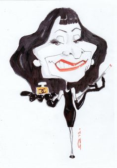 Coco Chanel in caricature!