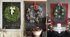 8 Holiday Chalkboard Ideas - Celebrations at Home Holiday Fun, Christmas Holidays, Christmas Crafts, Merry Christmas, Christmas Decorations, Holiday Decor, Colored Chalkboard Paint, Chalkboard Decor, Chalk It Up