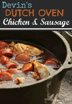 I love Dutch oven cooking and have grown up having it a lot in the summertime. This is my favorite Dutch oven chicken recipe and it is so easy!