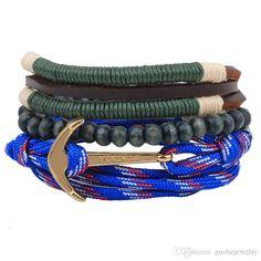 New Multi Layer Unisex Bracelets A Plurality Of Anchor Straps Beaded Bracelets Wooden Beads Woven Bracelets Silver Bangle Bracelet Charm Bead Bracelets From Guohejewelry, $1.57| Dhgate.Com