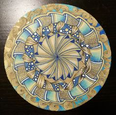 Miimis Zendala with Phicops and sandswirl Tangle Doodle, Tangle Art, Zen Doodle, Doodle Art, Zentangle Drawings, Doodles Zentangles, Mandala Drawing, Mandala Art, Mandala Pattern