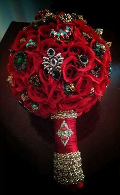 For sale set  of 5 hand crafted  wedding bouquets