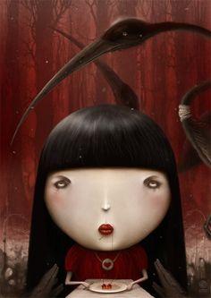 Creepy Illustrations by Anton Semenov http://www.cruzine.com/2012/12/27/creepy-illustrations-anton-semenov/