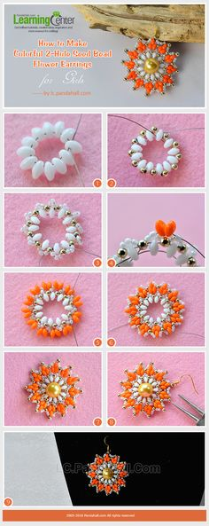 2-Hole Seed Beads Earrings Tutorial from LC.Pandahall.com