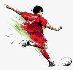 Sport Illustration Soccer Ideas For 2019 Football Themes, Football Art, Soccer Drawing, Sports Drawings, Soccer Art, Images Disney, Personalized Birthday Cards, Football Wallpaper, Sports Art