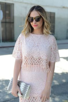 Light Pink in Lace