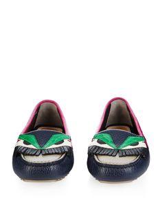 Bag Bugs leather and crocodile loafers | Fendi | MATCHESFASHION.COM