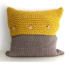 The Frensham Cushion Cover Knitting pattern by Rebecca's Room Hand knit your own cushion cover or decorative pillow cover! This design was inspired by the sunshine shimmering on the . Knitted Cushion Covers, Cushion Cover Pattern, Knitted Cushions, Hand Knitting, Knitting Patterns, Crochet Patterns, Simple Knitting, Super Bulky Yarn, Crochet Pillow