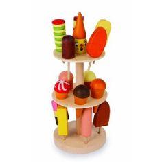 Eisständer mit EIS für den Verkaufswagen Kaufladen Kaufmannsladen 5261