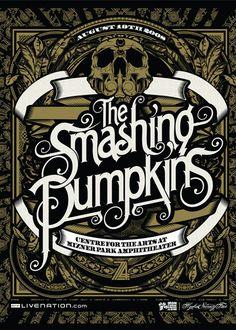 Smashing Pumpkins 2008  grafiker.de - 40 coole Flyer Designs