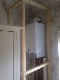 Boiler Frame Home Diy, Home Kitchens, Small House Design, Creative Furniture, Boiler, Diy Furniture, Home Decor, Boiler Cover Ideas, Victorian Homes