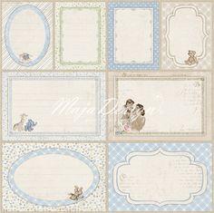 Journaling cards blue
