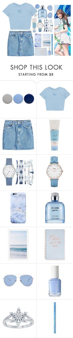 """""""Jihyo- Elsa"""" by twice-jyp ❤ liked on Polyvore featuring Burberry, Anine Bing, A.X.N.Y., CLUSE, Dolce&Gabbana, Pottery Barn, Fringe, Kaleos, Essie and Disney"""
