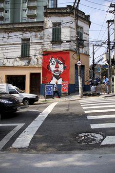Street art   Mural  (São Paulo, Brazil) by Teodoro and Oscar Freire, feat. Rodrigo Branco