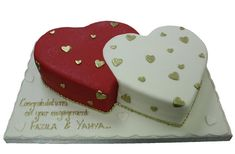Two Hearts Anniversary / Engagement Valentines Cakes And Cupcakes, Valentine Cake, Cupcake Cakes, Anniversary Cake Pictures, Happy Anniversary Cakes, Heart Shape Cake Design, Blaze Cakes, Cake For Husband, Diaper Cake Centerpieces