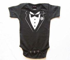 Baby Tuxedo wedding one piece shirt by lowleepop on Etsy