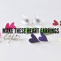 Click to Read and Learn How to Make Heart Earrings | Easy Earring DIY | Valentines DIY | DIYs with Shrinky Dinks | Pop Shop America