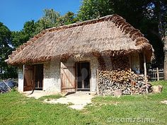 Old wooden hen-house from Zukow, Lublin, Poland