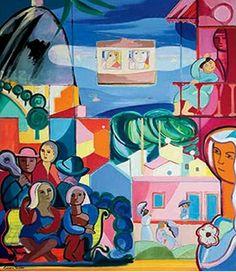 Rio de Janeiro - oil on canvas - Cicero Dias. Drawing Lessons, Oil On Canvas, Brazil, Body Art, Fine Art, Drawings, Anime, Inspiration, 81