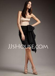 Sheath Strapless Short/Mini Charmeuse Homecoming Dresses With Ruffle (022011273) http://jjshouse.com/Sheath-Strapless-Short-Mini-Charmeuse-Homecoming-Dresses-With-Ruffle-022011273-g11273