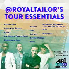 We asked Royal Tailor what they'd be bringing on the #PositiveHitsTour!   http://www.air1.com/tour.aspx