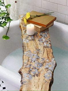Rustic bathtub caddy