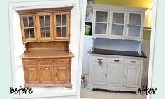 I have a smilar hutch I would love to give a makeover like this!