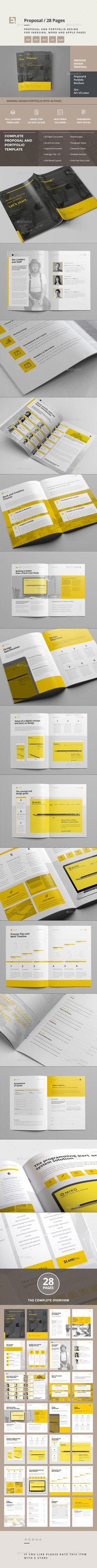 Proposal Template InDesign INDD #design Download: http://graphicriver.net/item/proposal/14319118?ref=ksioks