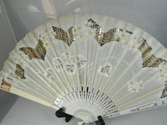 Antique Hand held Fan Handpainted and Sequined. $74.99, via Etsy.