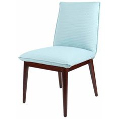 Lara Fabric Chair Brown legs, Turquoise Arrow