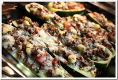 Greek Stuffed Zucchini Boat Recipe