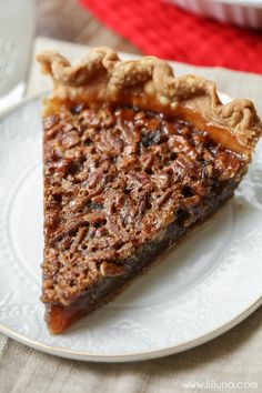 The recipe for THE BEST Pecan Pie! Not only is this pie a MUST at Thanksgiving dinner - it's a perfect pie year round!